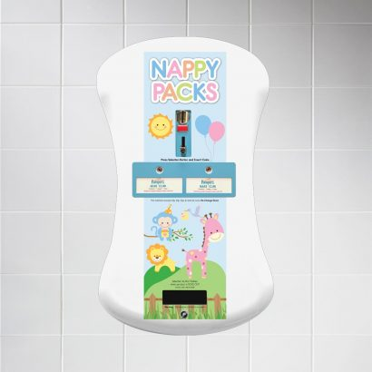 Duo Curve nappy vending machine animal graphics